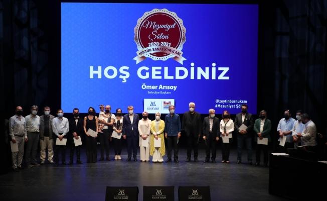 Zeytinburnu Kültür Sanat' da Mezuniyet Coşkusu