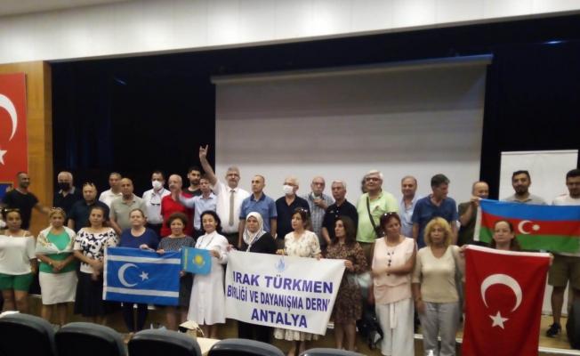 Antalya'da Kerkük Katliamı'nın 62. yıl dönümünde anma töreni
