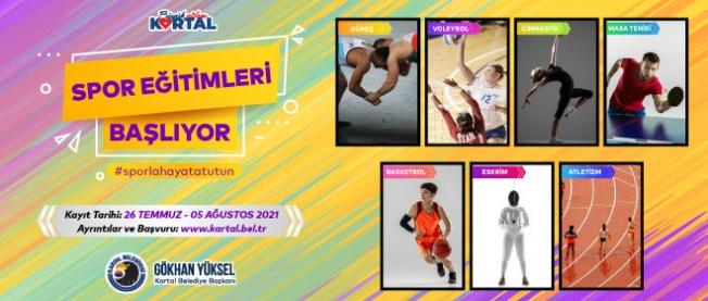 Kartal Belediyesi'nin Ücretsiz Yaz Spor Eğitimleri Başlıyor