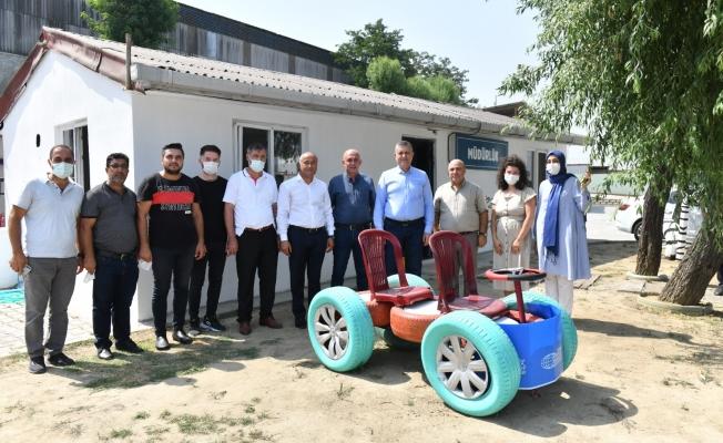 Başkan Bozkurt, Yeni Yapılan 1. Sınıf Atık Getirme Merkezini İnceledi