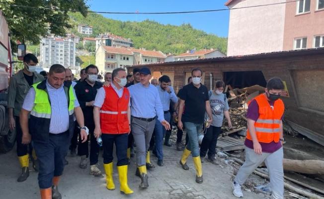 İçişleri Bakanı Soylu İle Lokman Çağırıcı Afet Bölgesi Bozkurt'ta