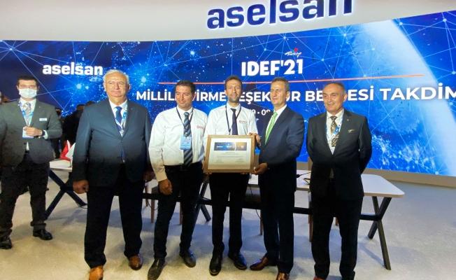 SANLAB'a IDEF'21'de 'Millileştirme Teşekkür Belgesi'