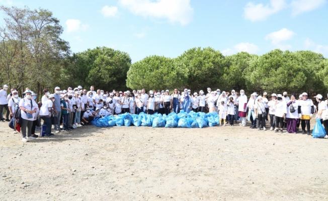 Dünya Temizlik Günü'nde Çiftalan Ormanı temizlendi