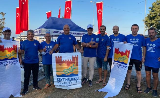 Zeytinburnu Belediyesi Masterlar, 'Açık Deniz Yüzme Yarışı'nda