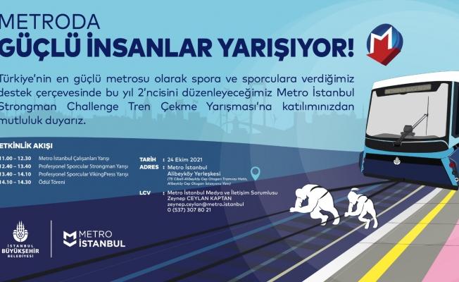 İSTANBUL'UN METROSUNDA GÜÇ GÖSTERİSİ