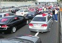 Açılıma konvoylu protesto
