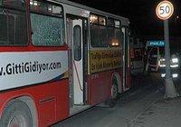 Otobüse molotoflu saldırı !