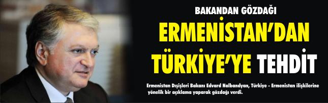 Ermenistan'dan Türkiye'ye tehdit