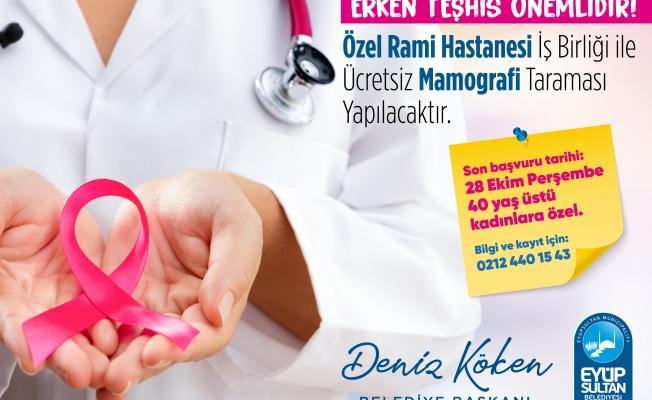 40 yaş üstü kadınlara ücretsiz mamografi taraması