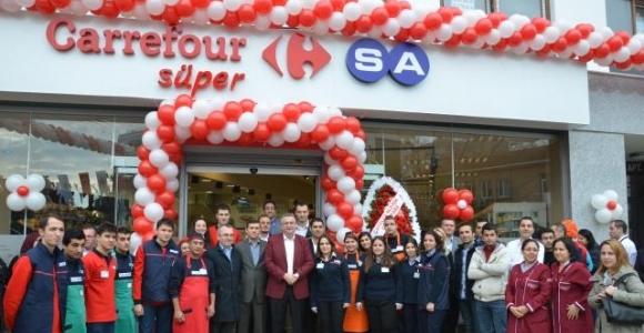 Başkan Carrefour Sa Süper Marketi Açtı