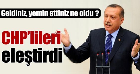 Erdoğan, CHP'lilere sert çıktı