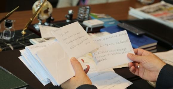 İlk mektup başkan Karadeniz'e