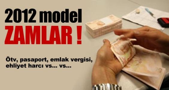 İşte 2012 model zamlar