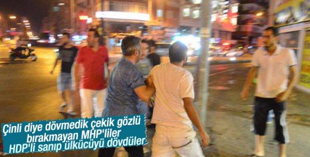 MHP'liler HDP'li Diye MHP'liyi Dövdü