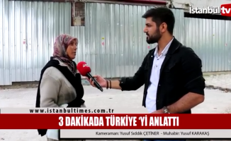 3 Dakikada Türkiye'yi anlattı