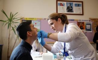 Engelli öğrencilere ağız ve diş sağlığı taraması y