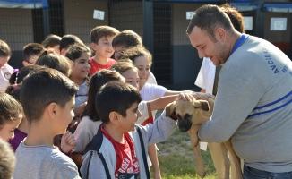 Avcılar'da hayvanları koruma günü çocuklarla kutlandı