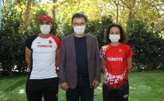 Başkan Deniz Köken, Balkan Şampiyonu Tuğçe'yi tebrik etti