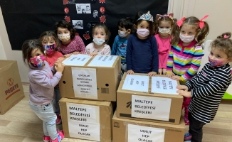 Maltepe'nin Minik Yürekleri Depremzedeleri Unutmadı