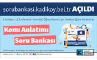 Kadıköy Belediyesi'nden Uzaktan Eğitime 'Soru Bankası' Desteği