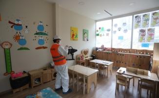 Kartal Belediyesi Yüz Yüze Eğitim Öncesi Okullarda Dezenfekte Çalışması Başlattı