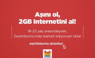 Zeytinburnu Belediyesi ''Aşı Olan Gençlere 2GB Internet''