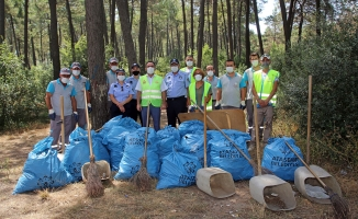 Ataşehir Belediyesi Kayışdağı Ormanın'da Temizlik Çalışmaları