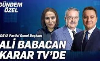 Babacan:'Seçim yasalarıyla oynamak iktidardan düşeceğinin kabulüdür'
