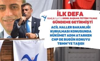 İlk defa Öztürk Yılmaz Gündeme Getirmişti CHP de Konuyu TBMM'ye taşıdı