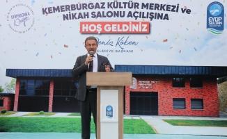 Kemerburgaz Kültür Merkezi ve Nikah Salonu açıldı