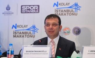 N Kolay 43. İstanbul Maratonu 'uçan tişörtlerle' tanıtıldı