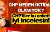 CHP neden iktidar olamıyor ?