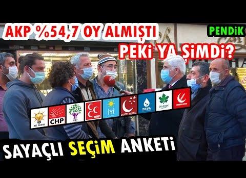 SAYAÇLI SEÇİM ANKETİ (ŞAŞIRTICI SONUÇLAR !!) | 100 KİŞİ !! | İSTANBUL/Pendik